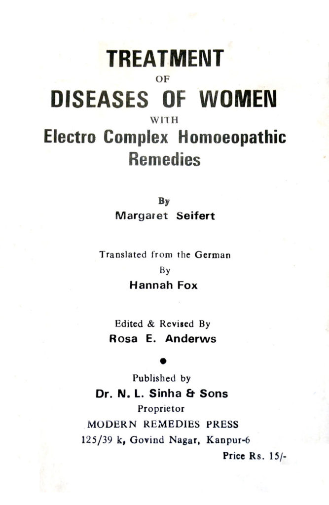 Treatment of Disease of Women
